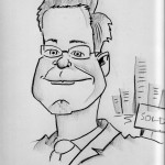 caricature of a company guy in Buildings