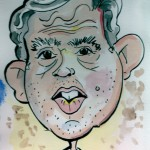 Caricature of Gordon Brown
