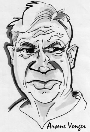 Arsene-Wenger Caricature by Facebloke