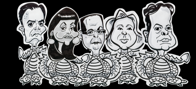 Dragons Den Caricatures