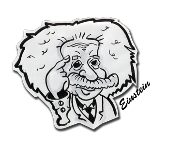 Einstein Caricature by face bloke