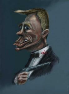 Bond - Daniel Craig Caricature by face bloke