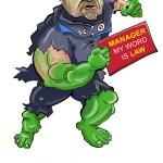 Steve Clarke Reading FC caricature by facebloke
